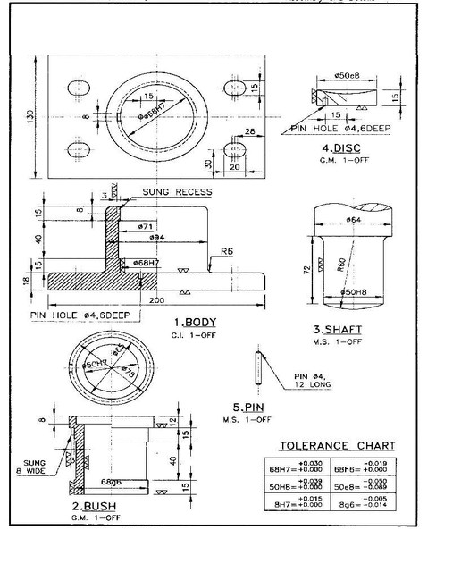 Bearing Puller Assembly Drawing : How to make foot step bearing in catiya grabcad