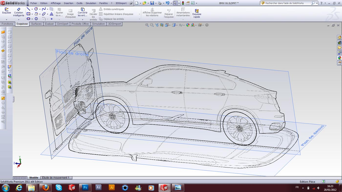 How to create a car surfaces based on BMW X6? | GrabCAD Tutorials