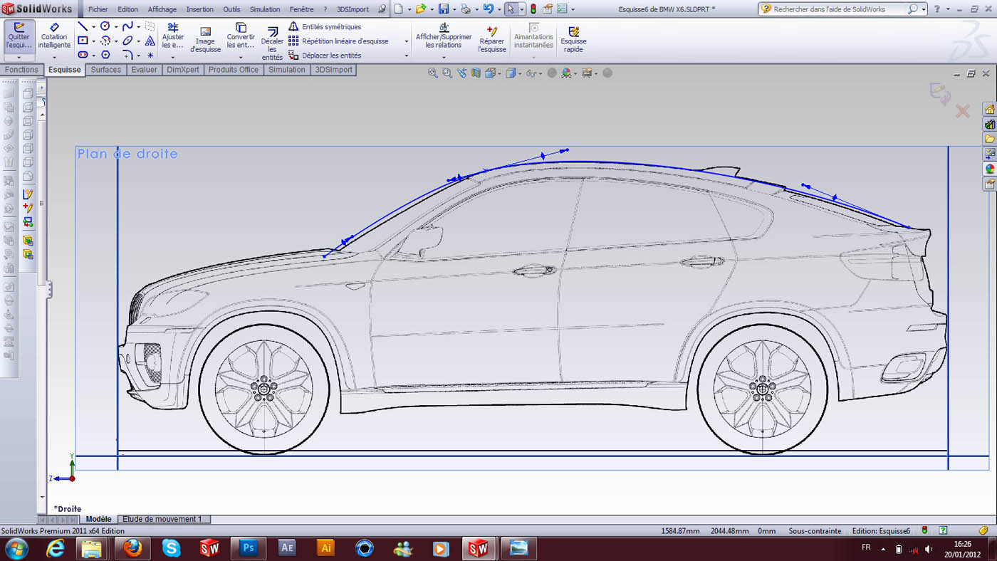 How To Create A Car Surfaces Based On Bmw X6 Grabcad Tutorials