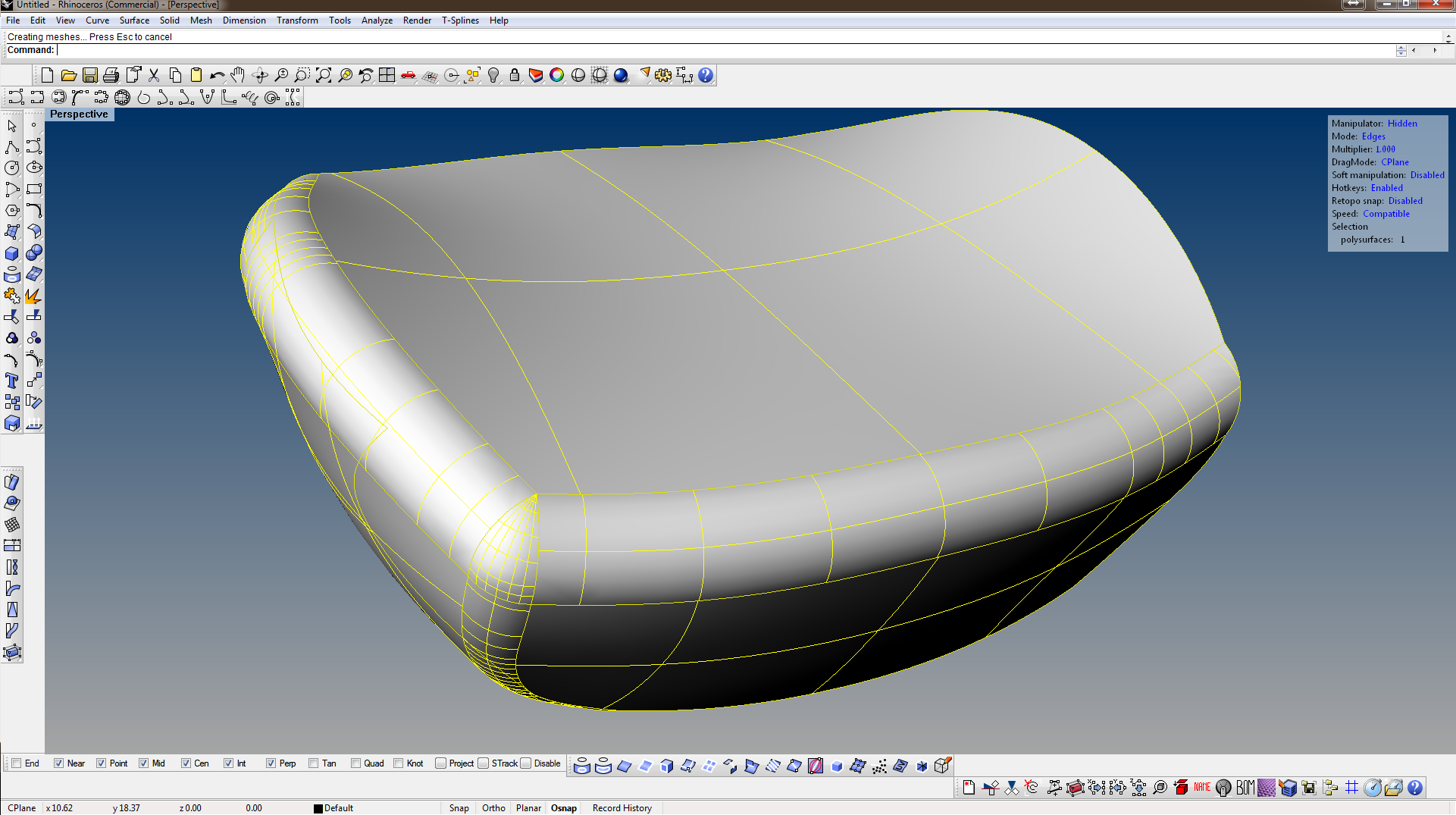 How to fillet surfaces in RHINO 3D   ???? | GrabCAD Questions