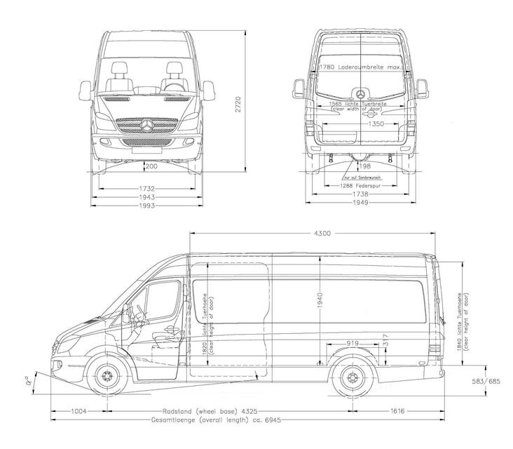 3d model of mercedes sprinter long