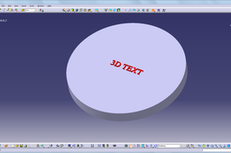 how to make the 3d text on the model in catia? | GrabCAD Tutorials
