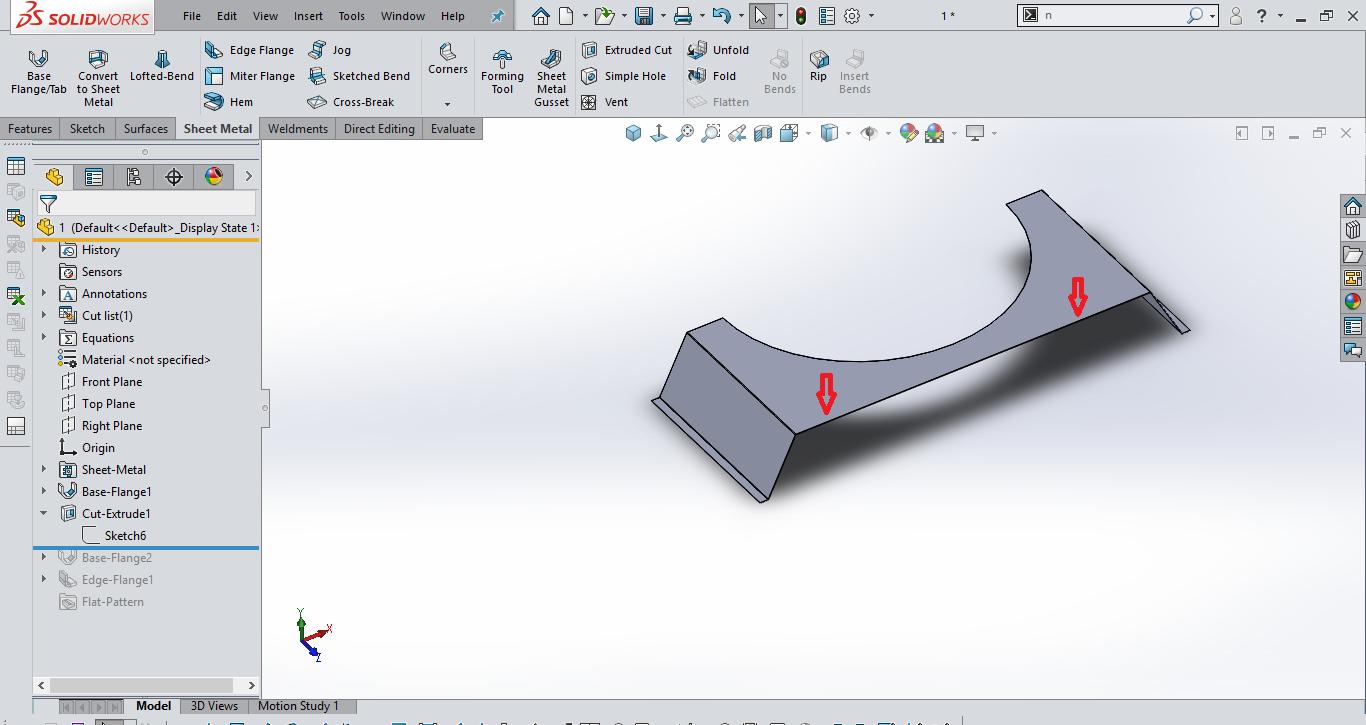 How To Make Bend In Sheet Metal Solidworks Solidworks Design Help Grabcad Groups