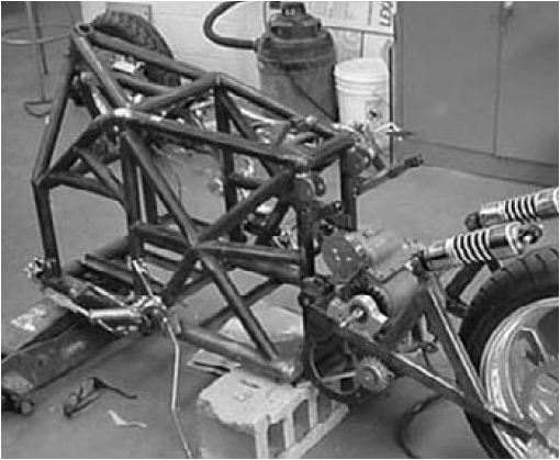 how an easy way or steps to create a frame of the motorcycle ...
