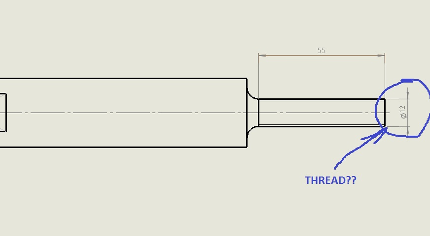How To Make A Thread Annotation Of Screw Shaft In SolidWorks