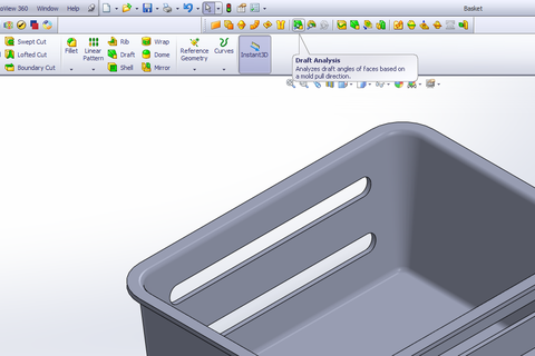 how to change direction of draft angle solidworks