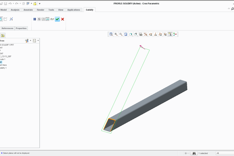 Tutorial: How to model Profile CUT in PTC Creo Parametric