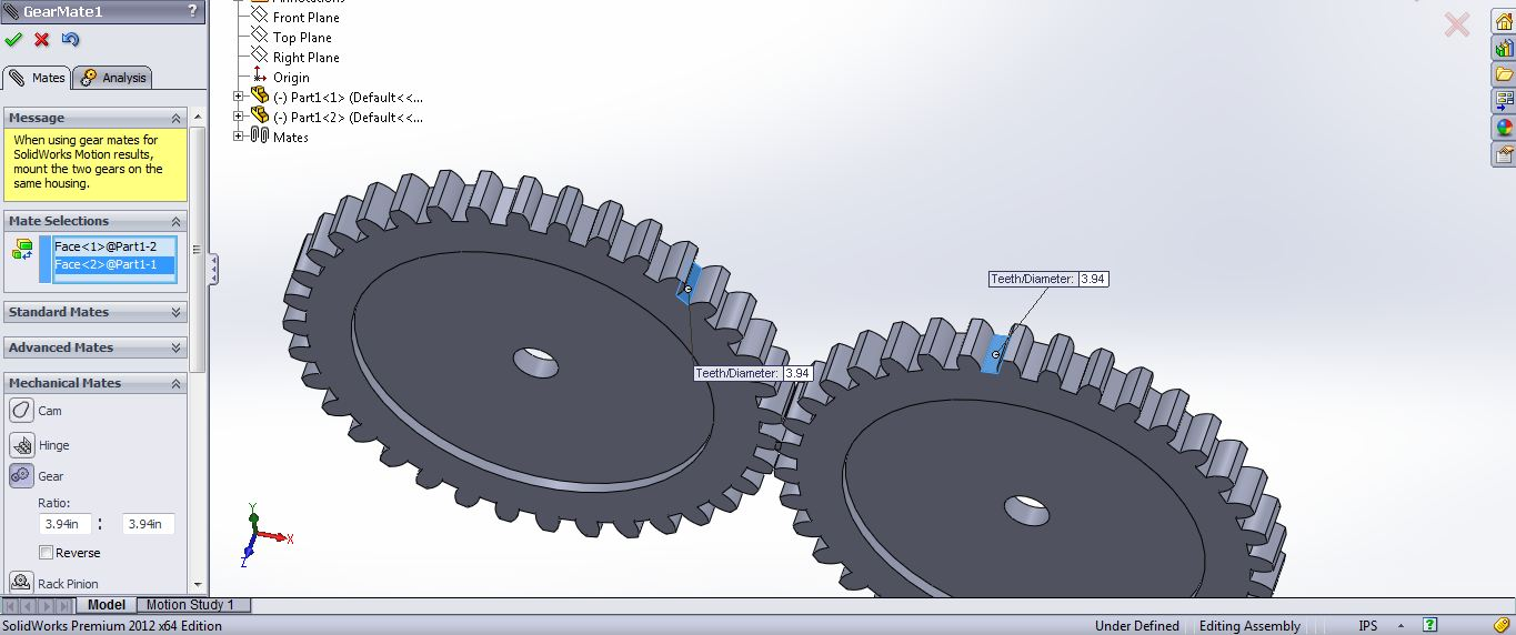 Tutorial : How to model a simple gear mechanism in solid