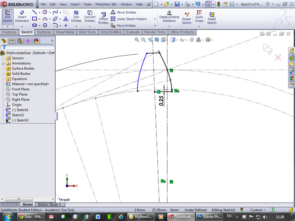 Tutorial: How to model involute gears in SolidWorks and show design