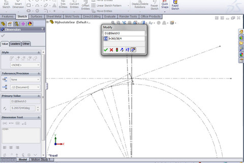 how to draw a involute spiral in solidworks