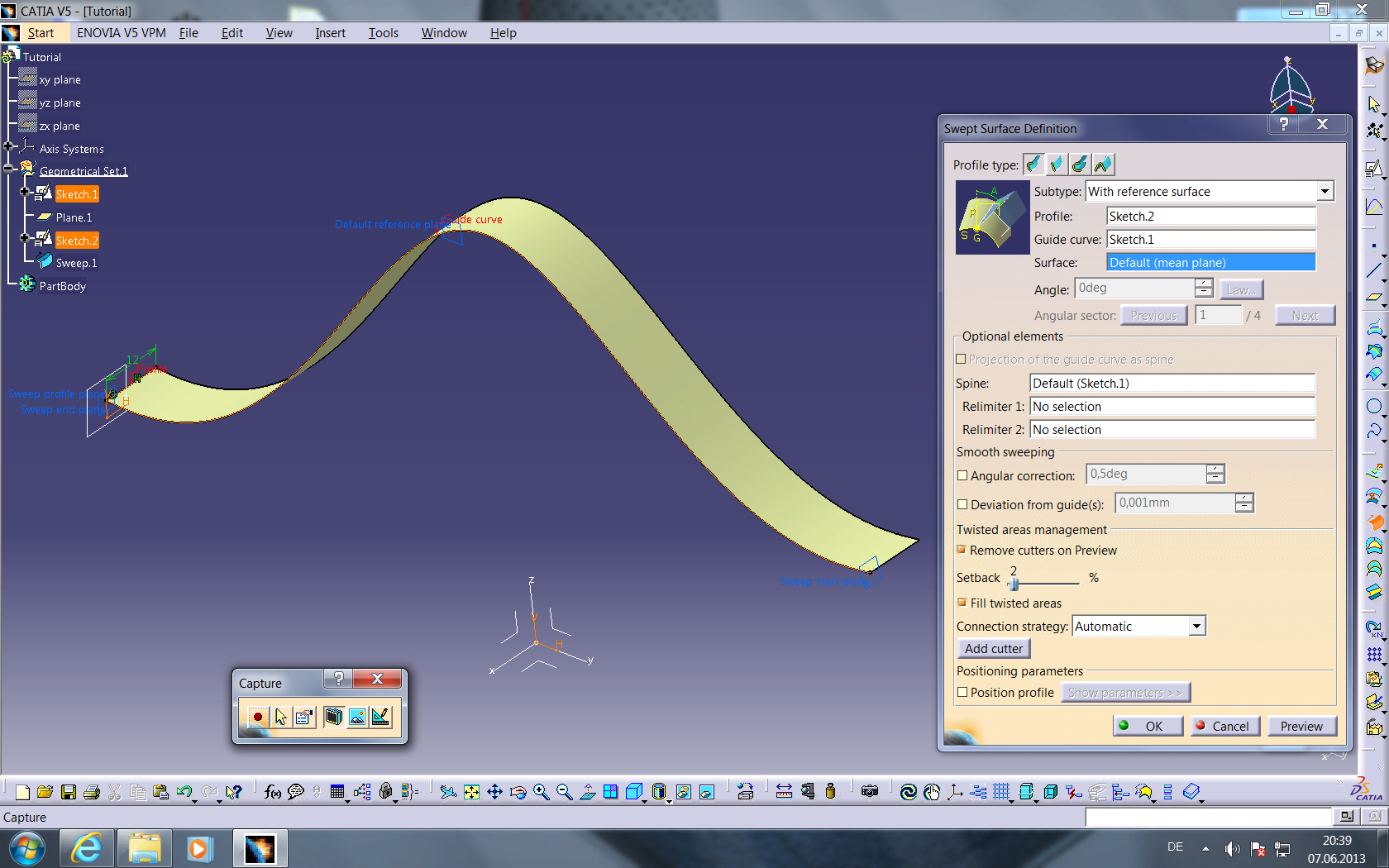 Tutorial: How to get a helix on a spline/curve/polyline in