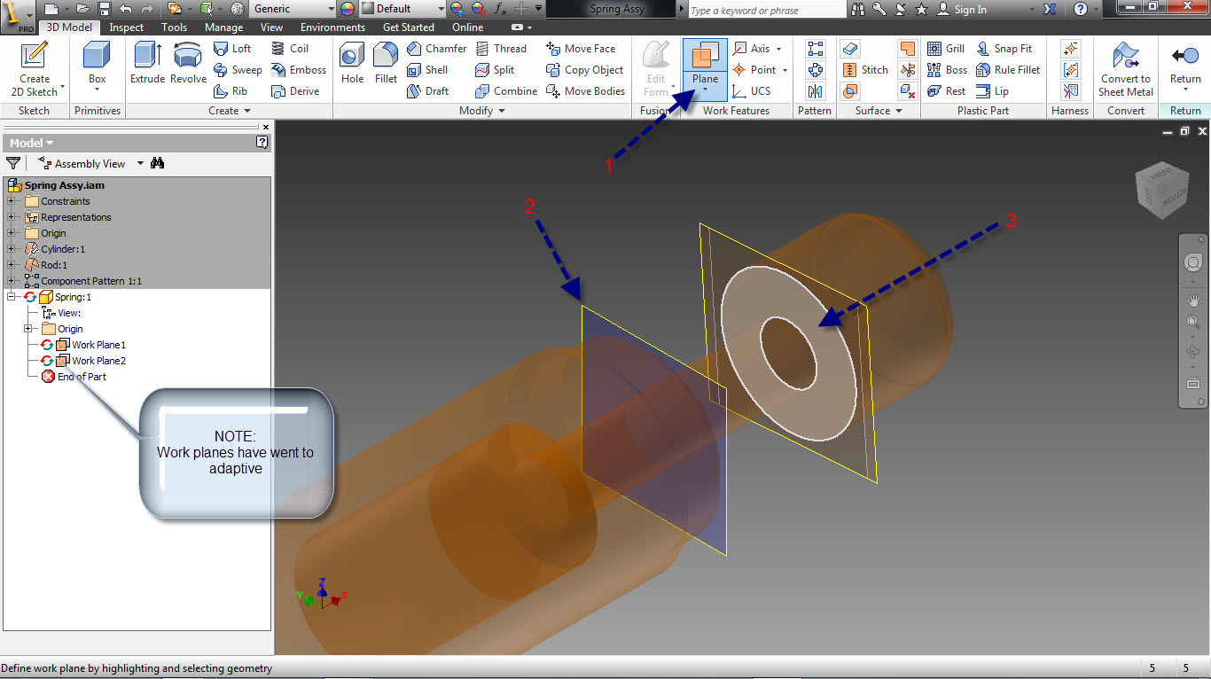 Tutorial: How to create adaptive springs in Autodesk Inventor