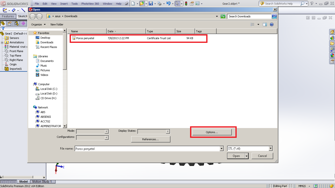 Tutorial how to edit stl file imported into solidworks grabcad step 1 1betcityfo Gallery