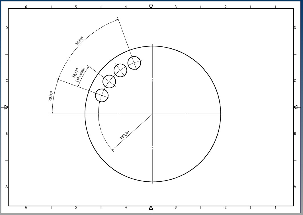 How Do You Dimension A Semi Circular Pattern On A Print GrabCAD Questions