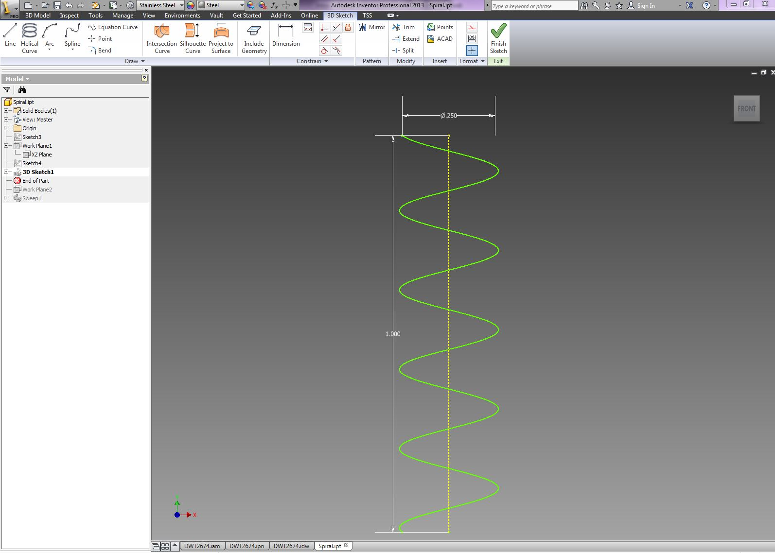How do I taper a coil in Inventor? | GrabCAD Tutorials
