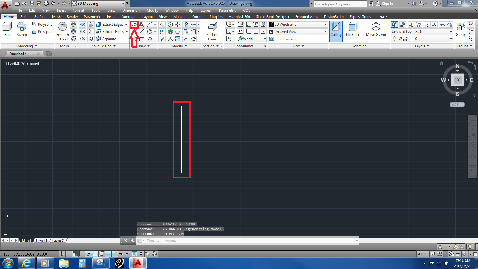 A 3 Join Pipe Design In Autocad Grabcad Tutorials Piping Layout Step 1