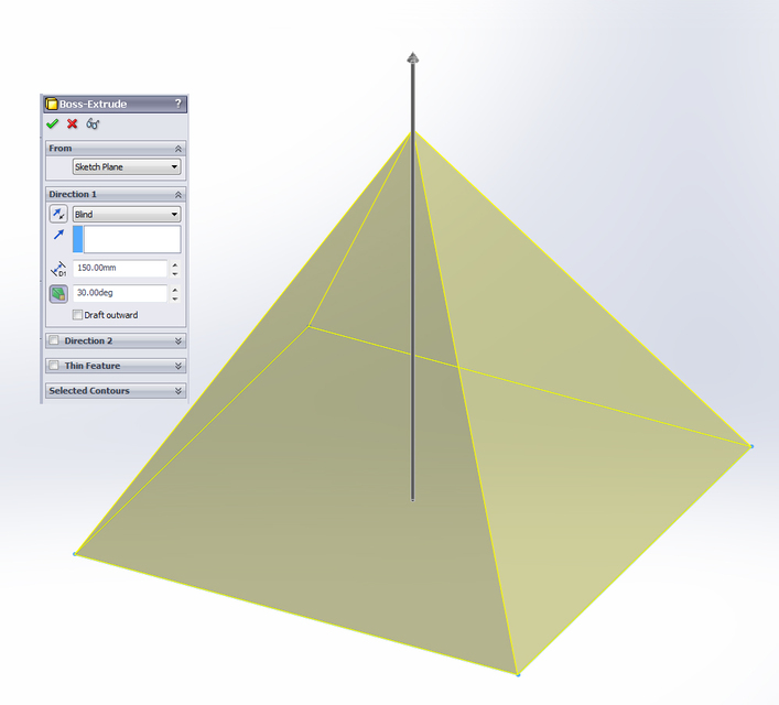 how to draw triangle in solidworks