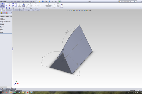 how to add a reference angle in solidworks