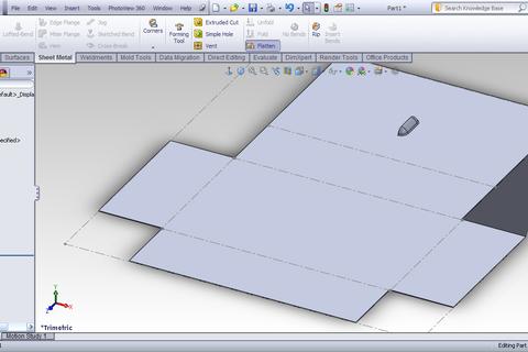 Tutorial Simple Sheet Metal Part In Solidworks Grabcad