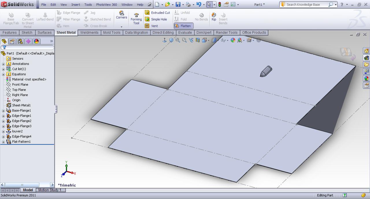 Tutorial Simple Sheet Metal Part In Solidworks