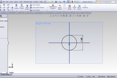 how to make a curve solidworks