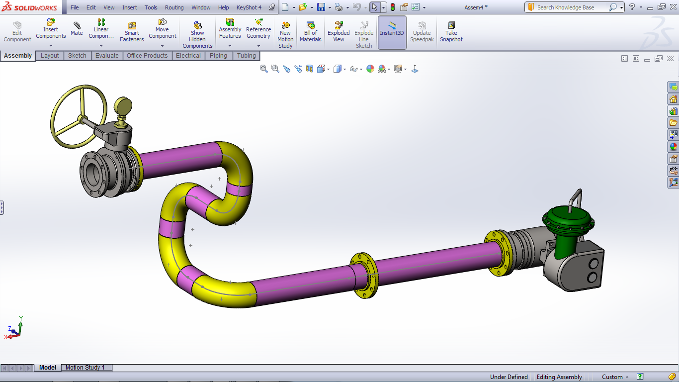 Tutorial Routing Pipes And Tubes In Solidworks Grabcad Questions Piping Line Diagram 13