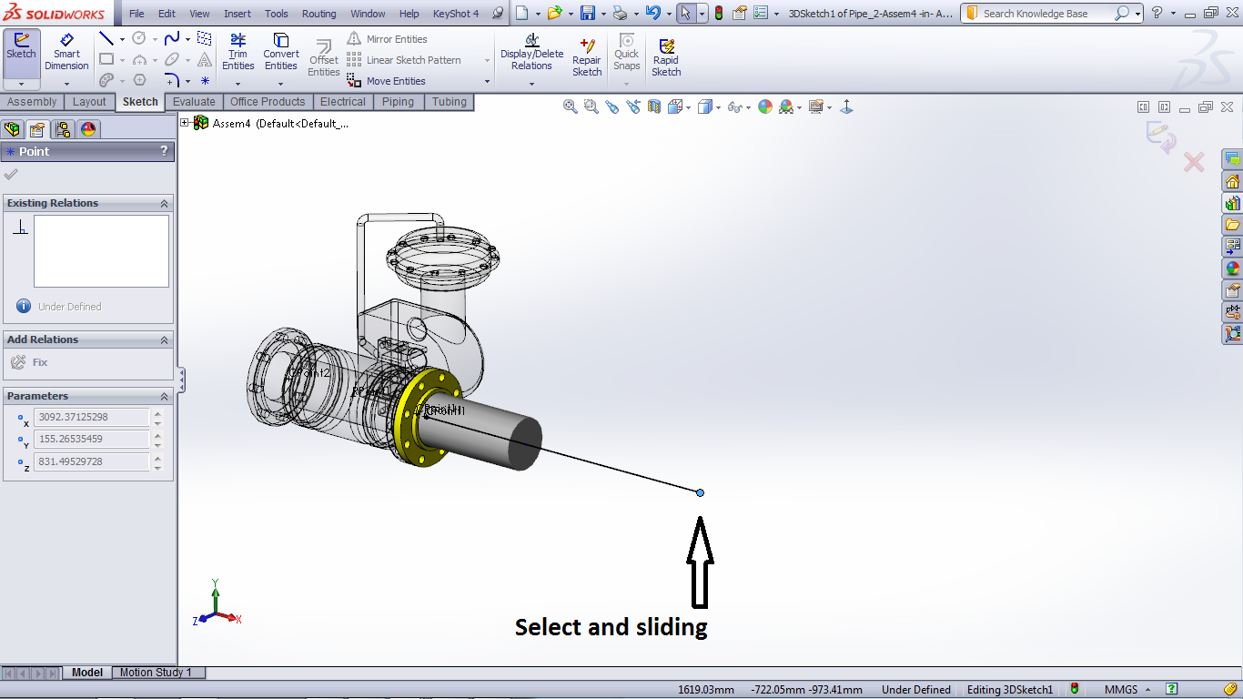 Tutorial Routing Pipes And Tubes In Solidworks Grabcad Tutorials Piping Layout Step 6