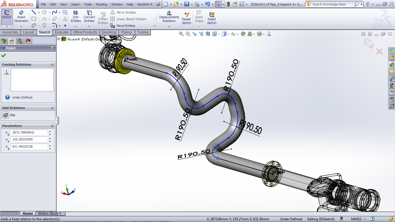 tutorial routing pipes and tubes in solidworks grabcad tutorials rh grabcad com solidworks routing manual pdf SolidWorks Hydraulic Routing