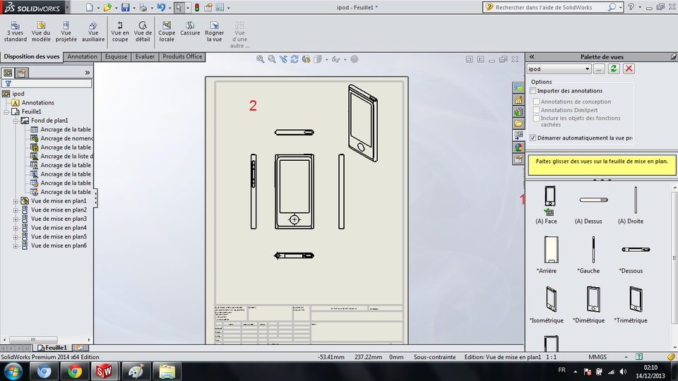 comment faire une mise en plan d 39 une piece sur solidworks grabcad. Black Bedroom Furniture Sets. Home Design Ideas