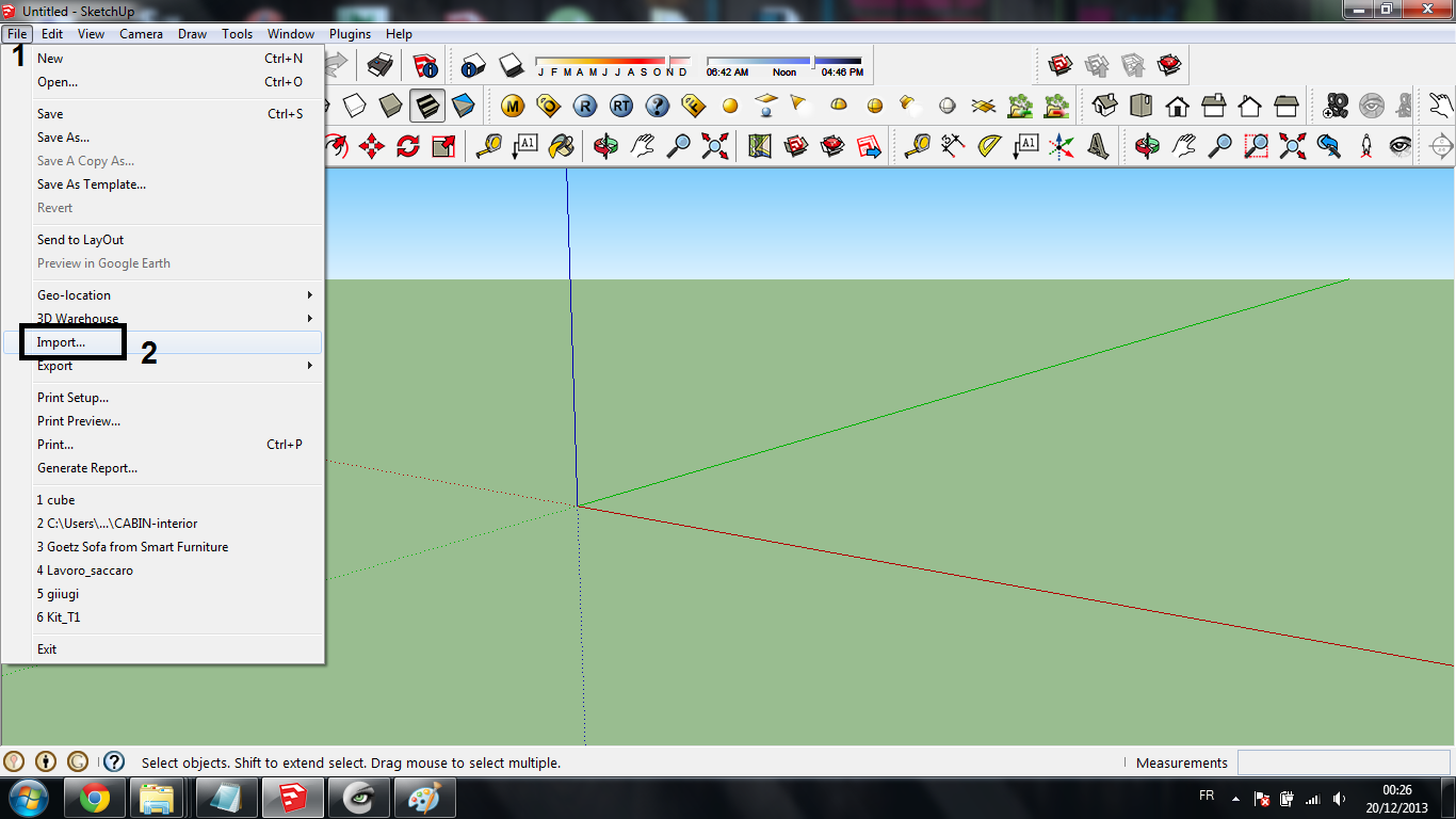 tutorial : how to open solidworks files in sketchup