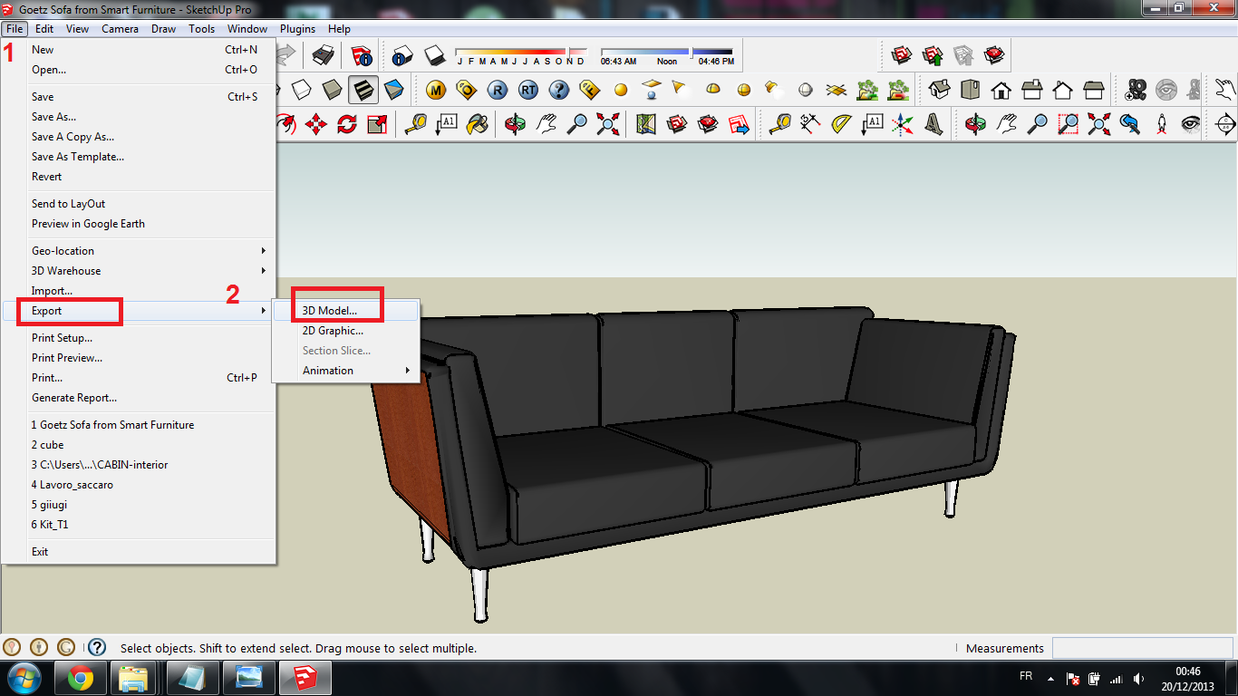 Tutorial : How to Import Sketchup files to SolidWorks? | GrabCAD
