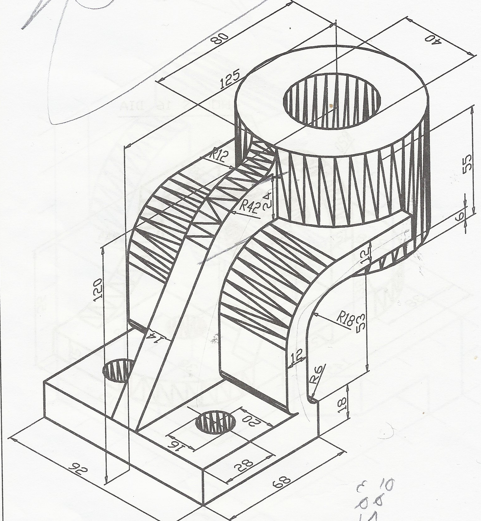 tutorial 15 3d engineering drawing 2 auto cad grabcad AutoCAD 3D Mechanical Engineering Designs step 1