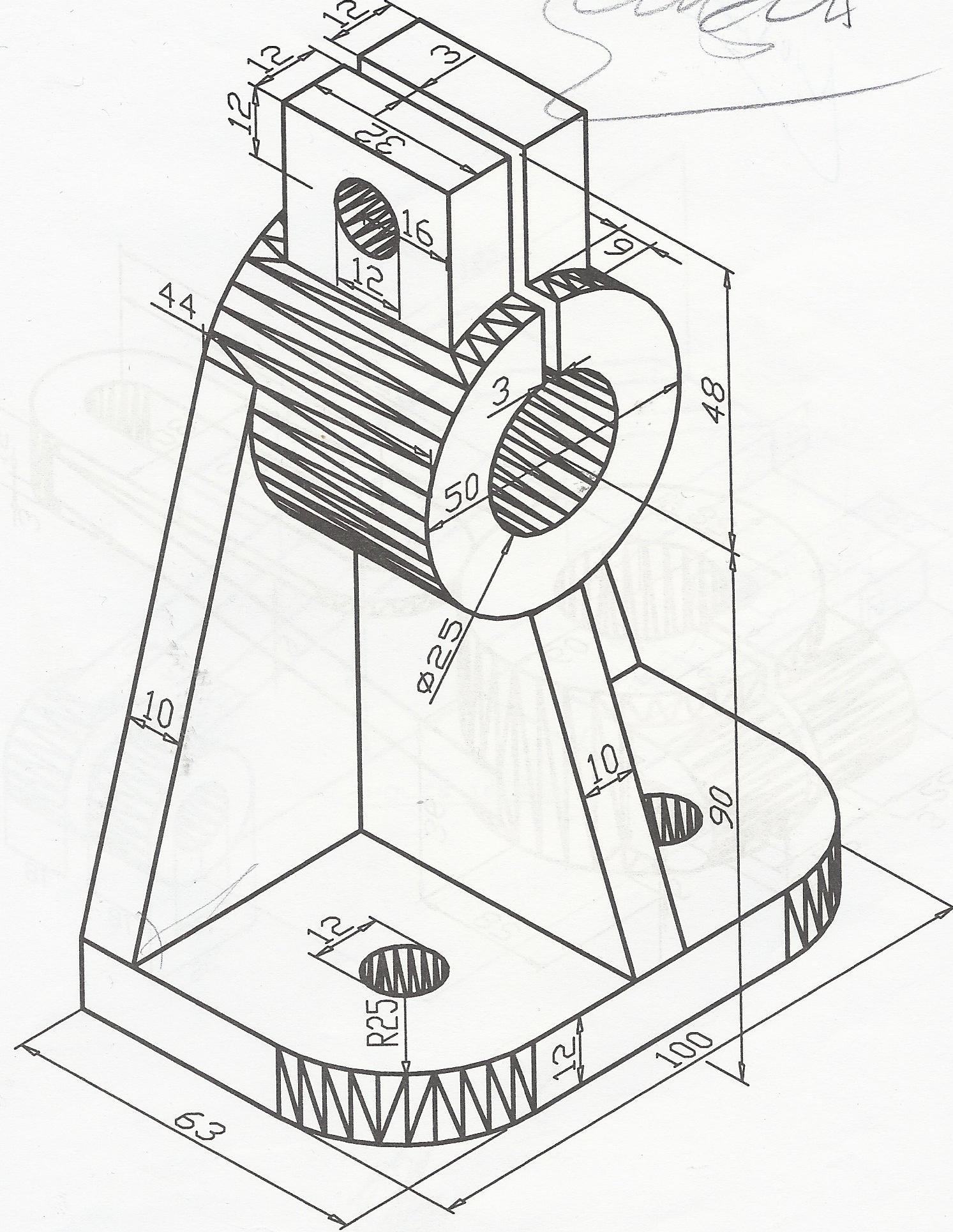 tutorial 15 3d engineering drawing 2 auto cad grabcad Microsoft 3D Design step 4