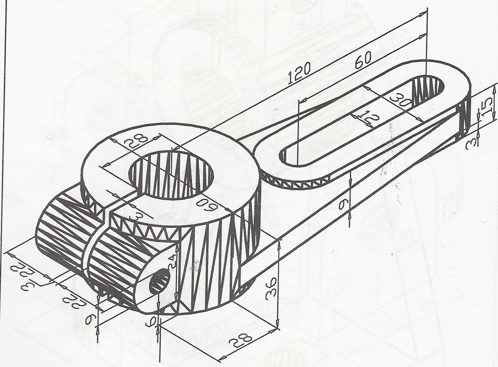 tutorial 15 3d engineering drawing 2 auto cad grabcad