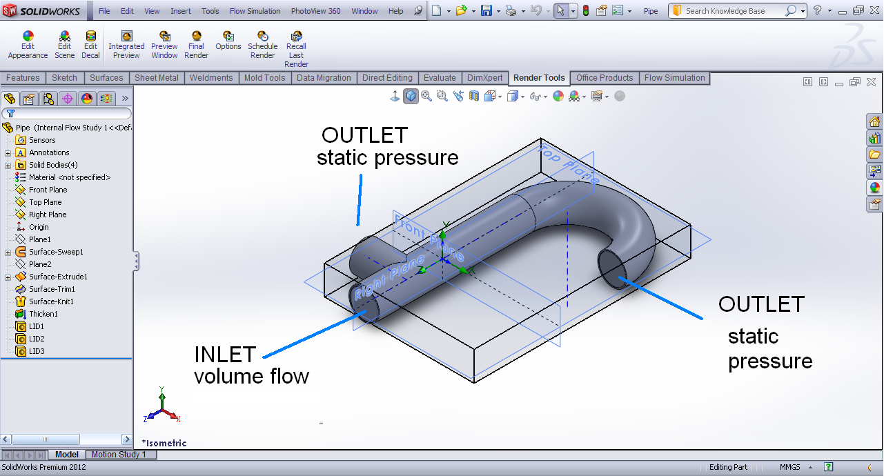 tutorial - applying boundary condition in flow simulation? | grabcad