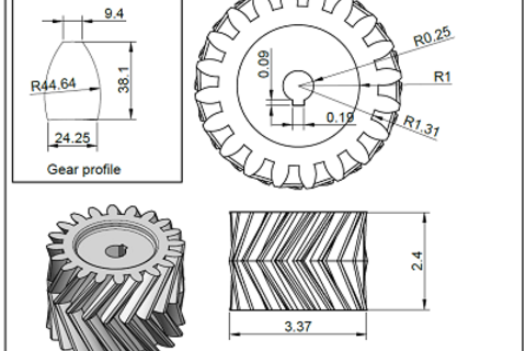 How To Make Herringbone Gear In Autocad on 2d cad drawing gear