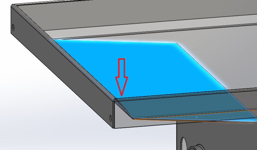 Help Impossible Flanged Mitered Sheet Metal Seam In