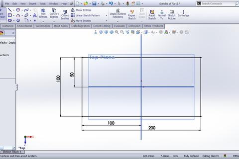 Tutorial Sketched Bend Feature Sheet Metal In