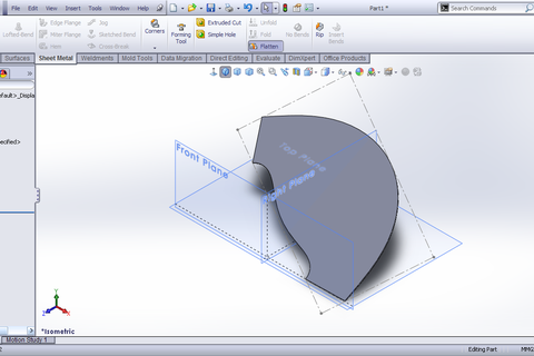 Tutorial Lofted Bend Feature Sheet Metal In Solidworks
