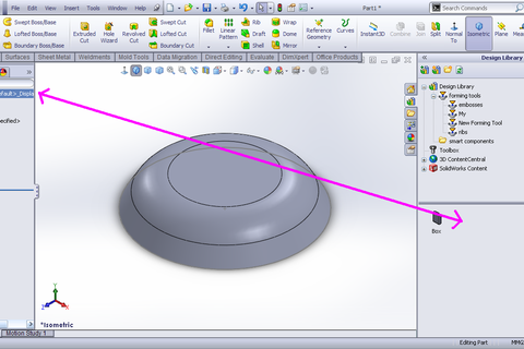 How To Add Forming Tools T In Solidworks Design Library