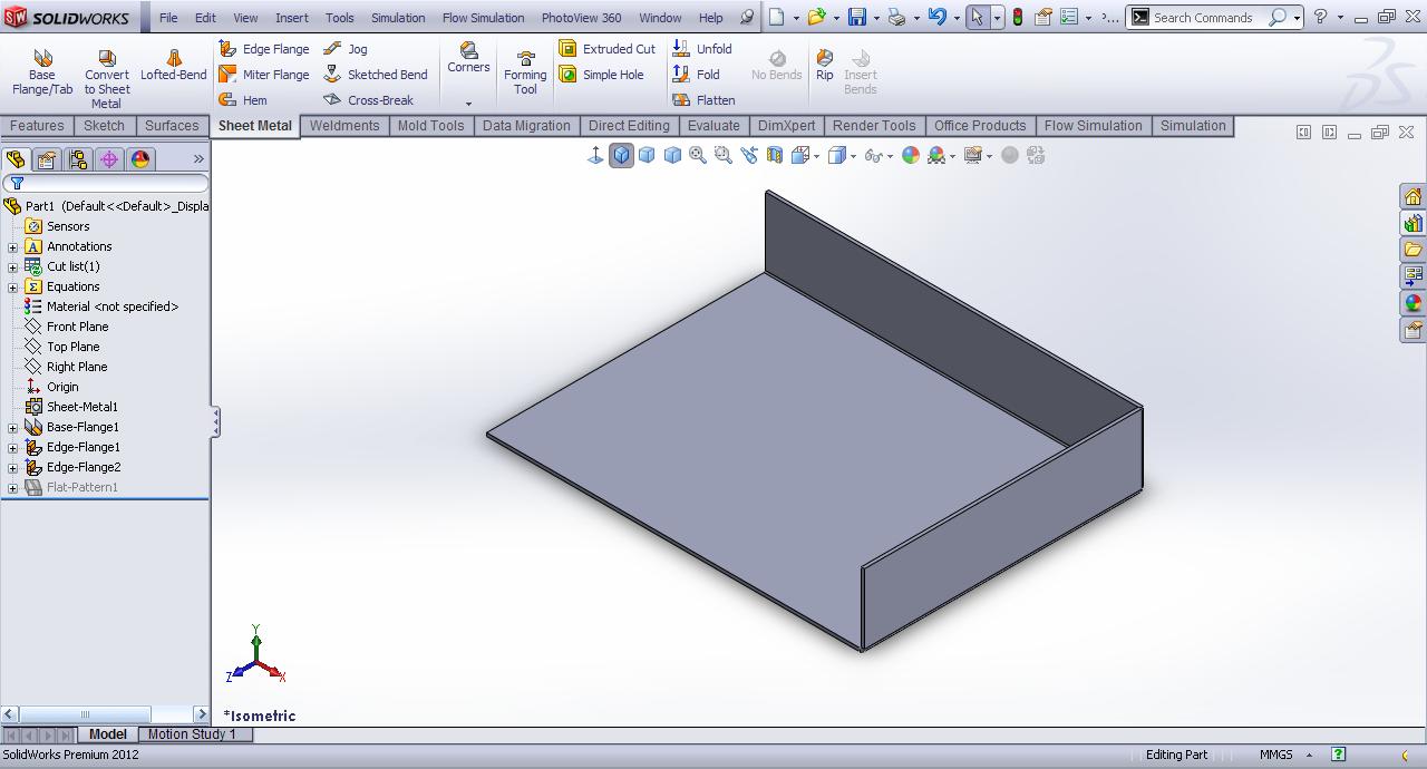 Tutorial Hem Feature Sheet Metal In Solidworks