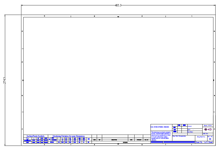 Template In Autocad2013 Grabcad