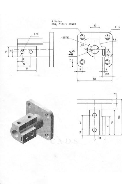 Can Anyone Provide 2d Drawing For Catia Practice Grabcad