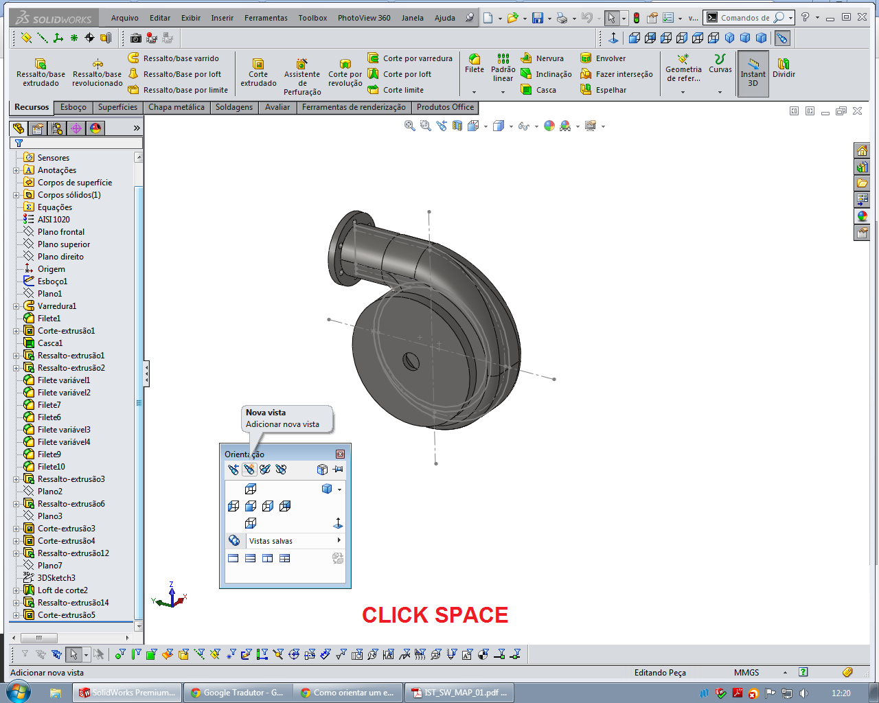 How to orient a sketch in Solidworks? | GrabCAD Tutorials