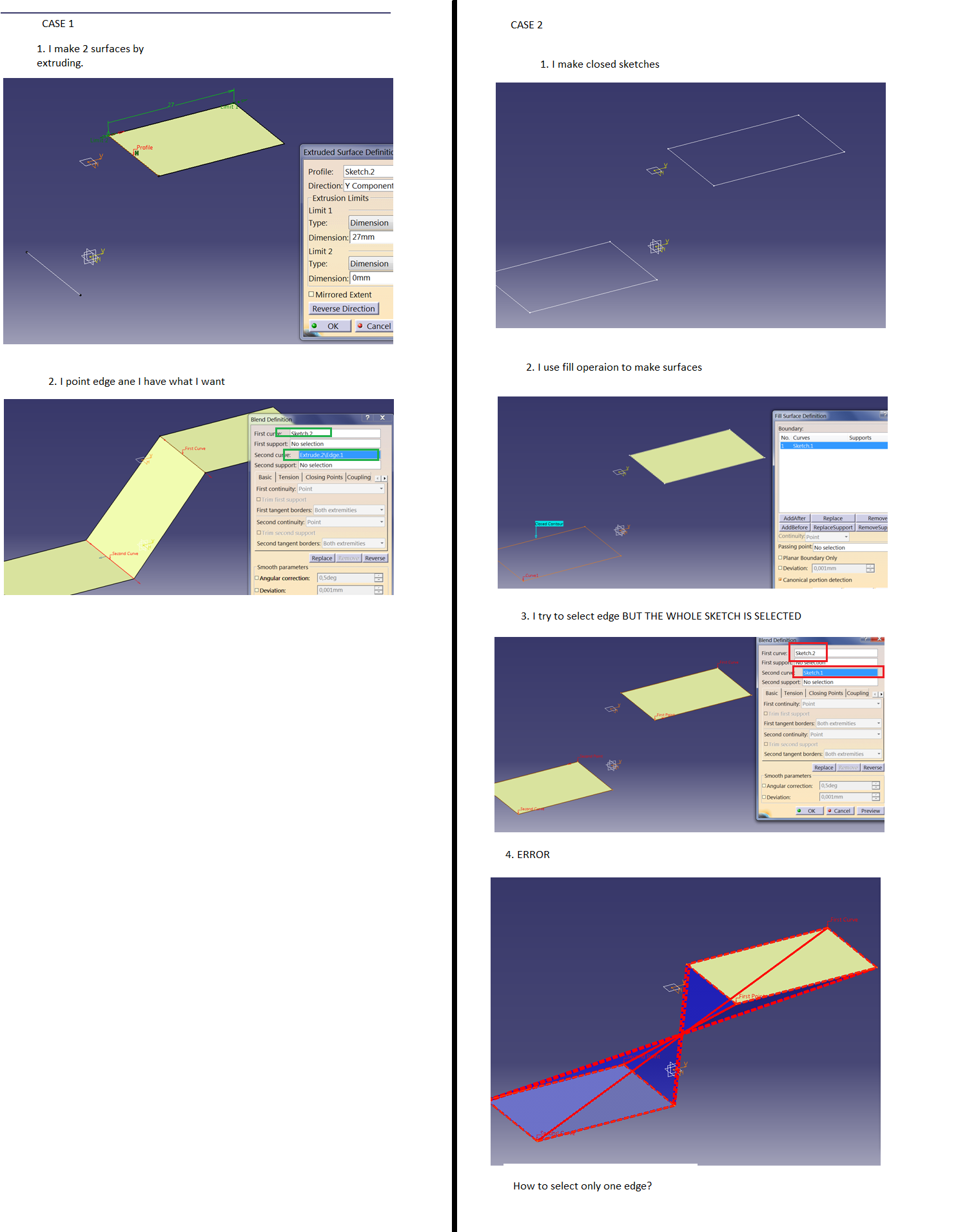 CATIA: Generative Shape design - Fill operation  | GrabCAD