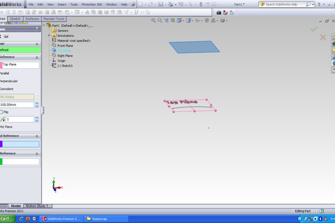 how to remove cut part of spline solidworks