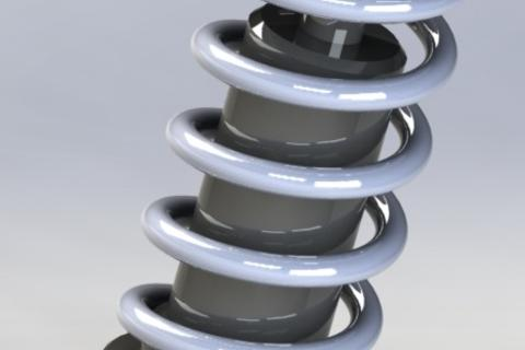How to Moving Spring / Shock Absorber Animation using solidworks Medium