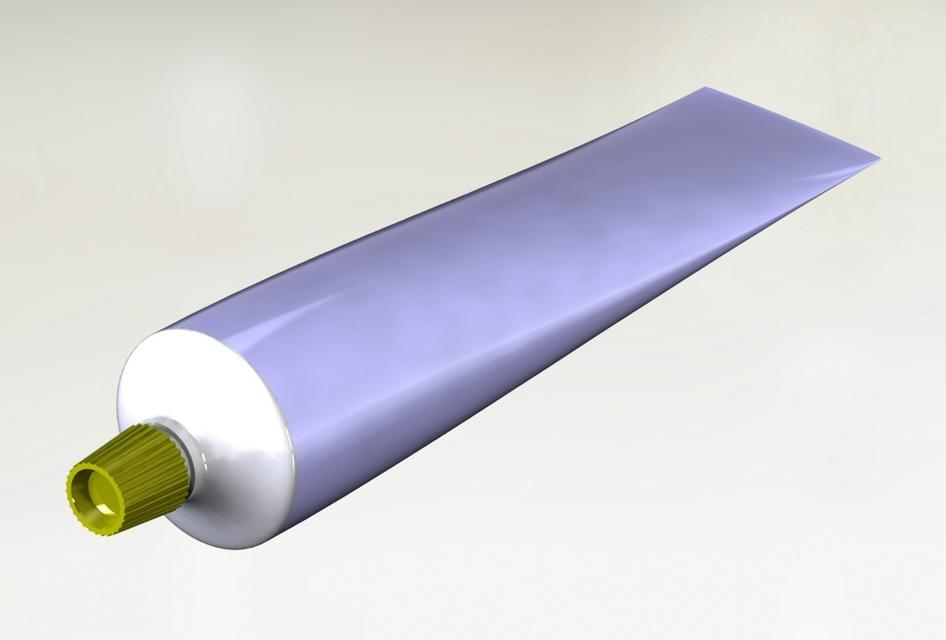 How to model toothpaste tube using solid works surfacing Large