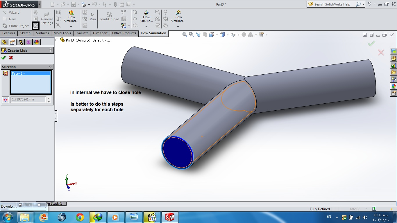 tutorial 20: how to 2 different materials in solidworks flow