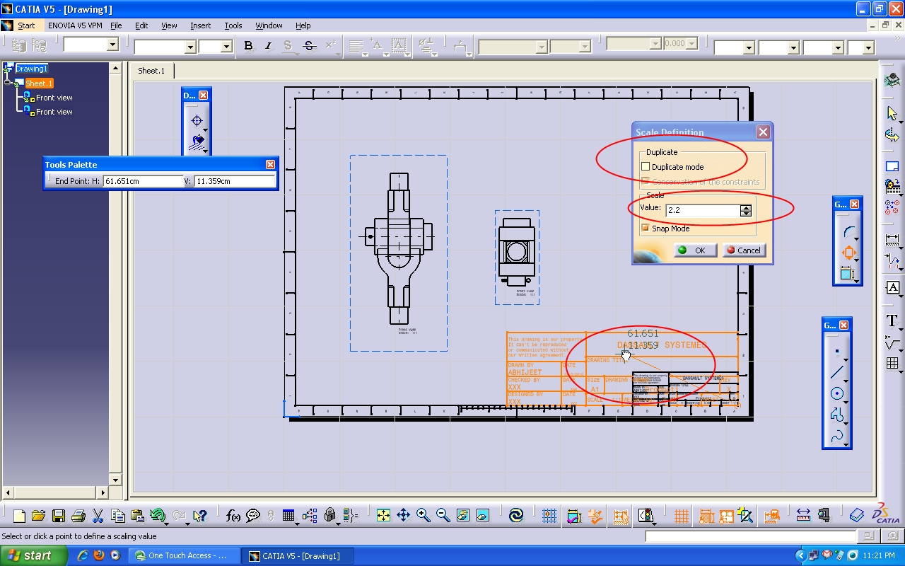 Tutorial: How to use drafting workbench in Catia V5